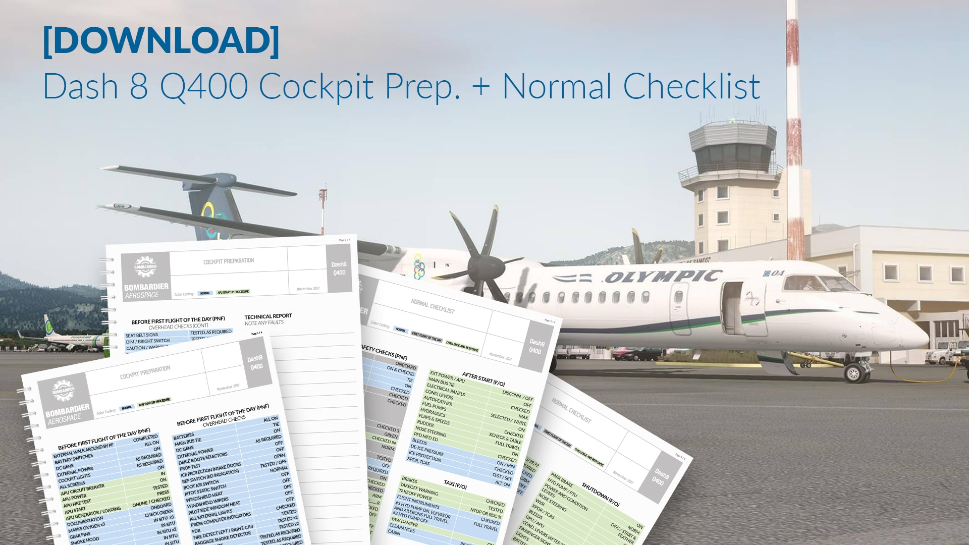 DOWNLOAD] Dash 8 Q400 Cockpit Prep + Normal Checklist - #AvLads com