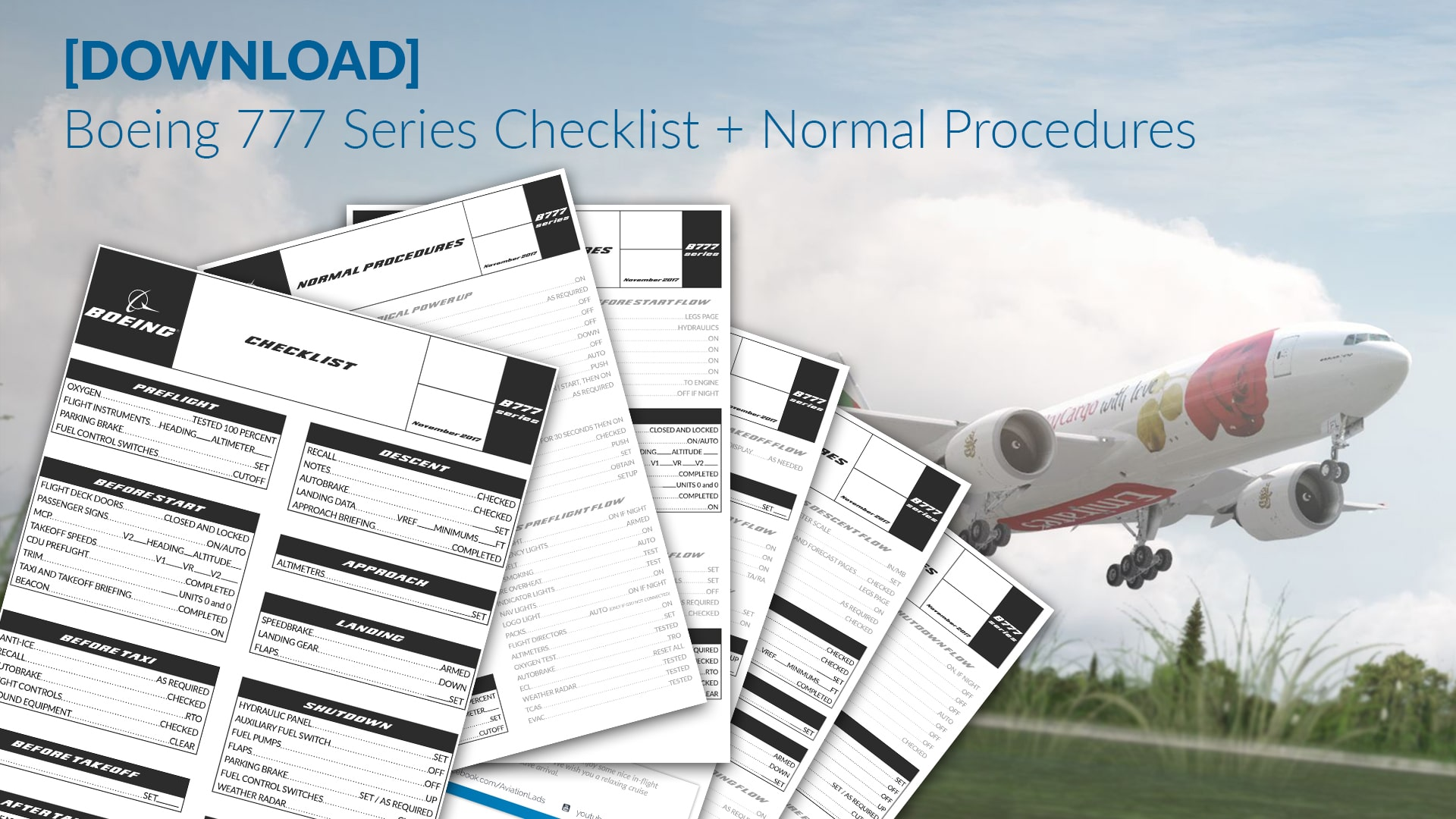 DOWNLOAD] Boeing 777 Series Checklist - Normal Procedures