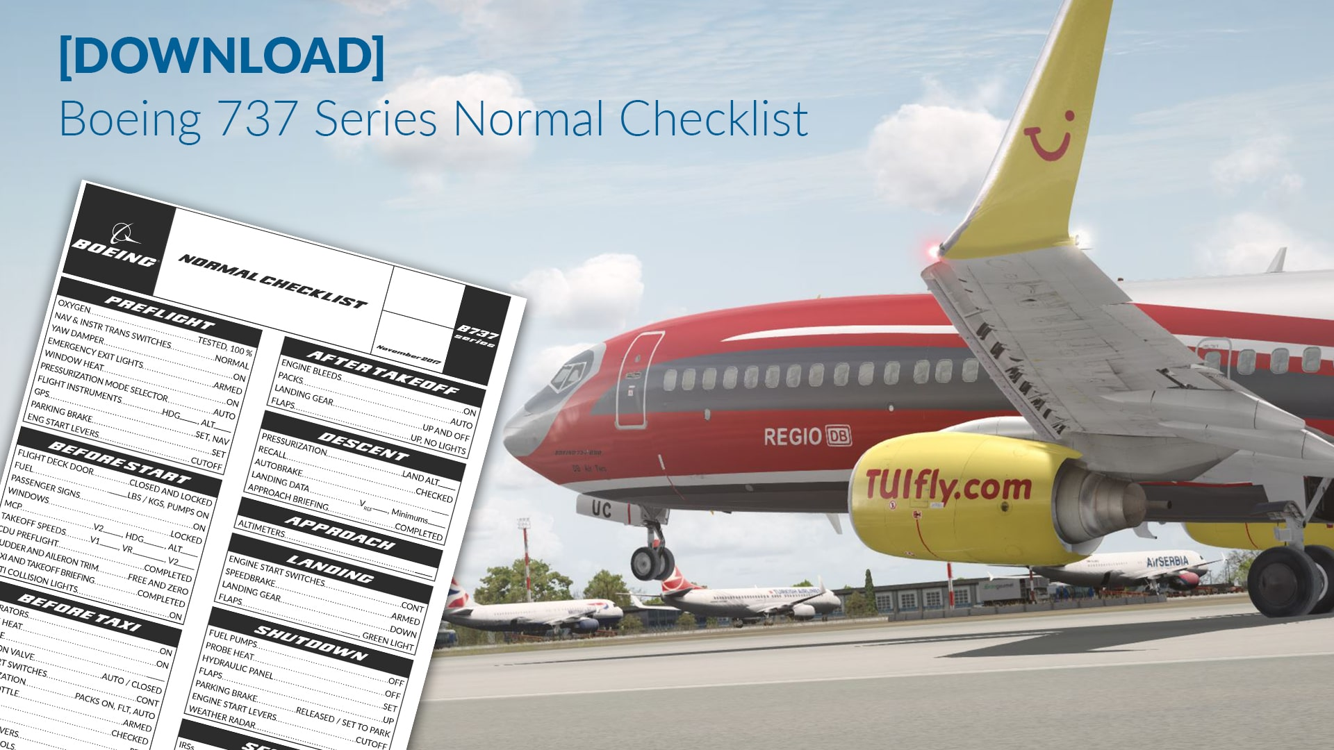[DOWNLOAD] Boeing 737 Series Checklist – Normal Procedures
