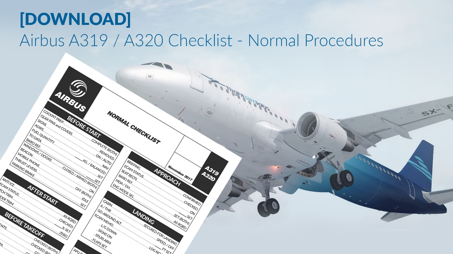 DOWNLOAD] Airbus A320 Checklist - Normal Procedure - #AvLads com